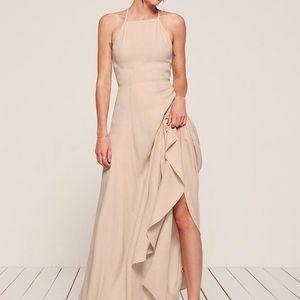 Reformation size 4 myrtle dress champagne color